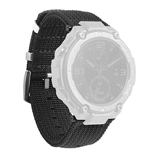 Smart Watch Armband für Amazfit T-REX, Armbandersatz aus schwarzem Nylon mit Armband,...
