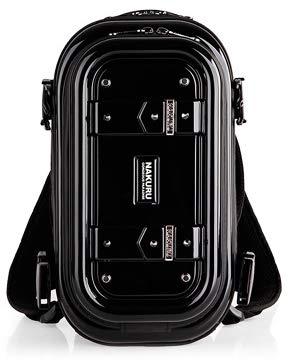 AE-6007 Sサイズ リュックサック ハードシェル メンズ レディース 軽量 ABS+PC ハードケース 防水 3way NAKURU-AE-6007-S-Black