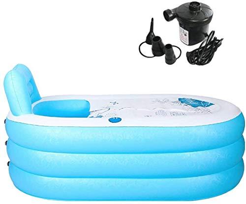 ZTBXQ Bañera Inflable Adulto Bañera Plegable Inflable portátil Espesar Plástico PVC Bañera Grande para Adultos con Bomba de Aire L