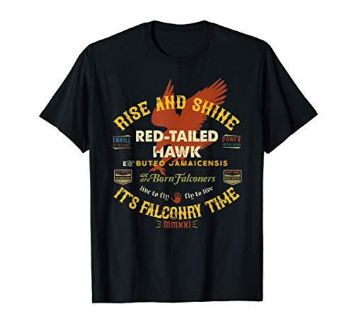 Diseño de halcón de cola roja de halconero Suministros de Camiseta