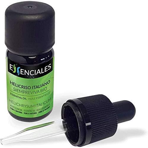 Essenciales - Huile essentielle de Hélichryse italienne/Immortelle (Helichrysum italicum) BIO, 10 ml | 100% Pure et Naturel - Certifiée Biologique et Écologique
