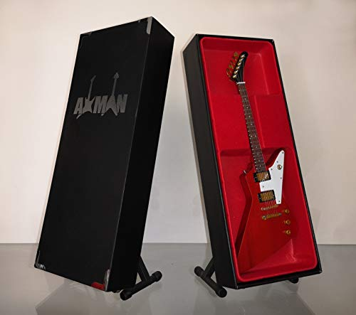 The Edge (U2) Réplica de guitarra en miniatura con caja de presentación y soporte