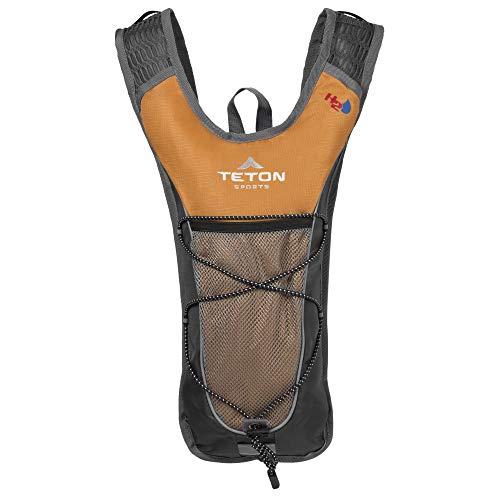 TETON Sports Trailrunner Mochila de hidratação de 2 litros; perfeita para corrida, ciclismo, caminhada e escalada; laranja, 16,5 x 10,5 x 17,7 cm, número do modelo: 1000O
