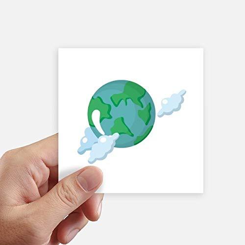 DIYthinker Univers et Alien Terre Autocollant carré de 10 cm Mur Valise pour Ordinateur Portable Motobike Decal 8Pcs 10cm x 10cm Multicolor
