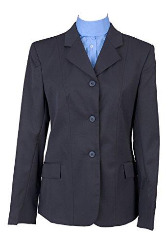 DEVON-AIRE Ladies Nouvelle Stretch Wool Show Coat, Navy, Size 8