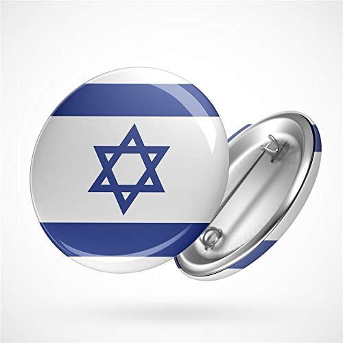 Hellweg Druckerei Button Anstecker Israel Flagge Mittlerer Osten Heilig Flag Badge Abzeichen Pin