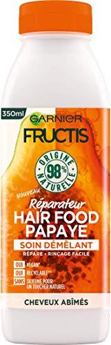 Garnier Fructis Hair Food Démêlant Réparateur à Papaye pour Cheveux Abîmés 350 ml
