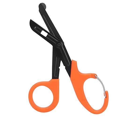 HEEPDD Medizinische Scheren, 7-Zoll-Verbandscheren aus rostfreiem Stahl mit feiner Erste Hilfe Schere für Mullbinden zur medizinischen Notfallbehandlung(Orange)