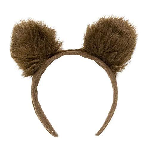Widmann 2329B - Haarreifen Bären Ohren aus Plüsch, Braun, Tier