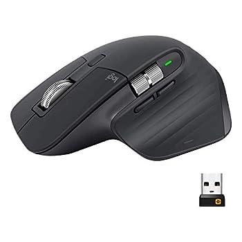 Logitech MX Master 3 Advanced Wireless Mouse Ultrafast Scrolling Ergonomic 4000 DPI Customization USB-C Bluetooth USB Apple Mac Microsoft PC Windows Linux iPad - Graphite