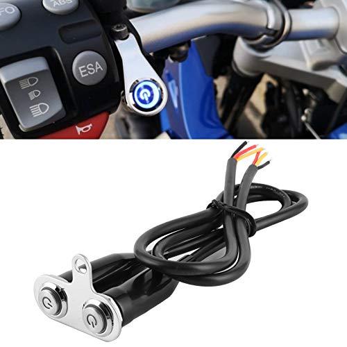 Accesorio de motocicleta de acero inoxidable para interruptor de manillar para interruptor de control(2*switch, Pisa Leaning Tower Type)
