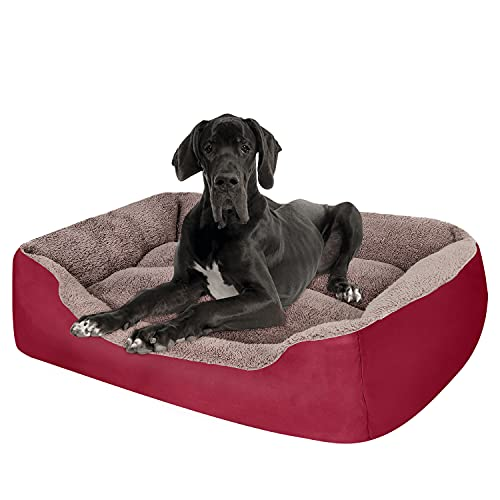 PUPPBUDD Dog Bed for Large Dogs Washable Comfortable...