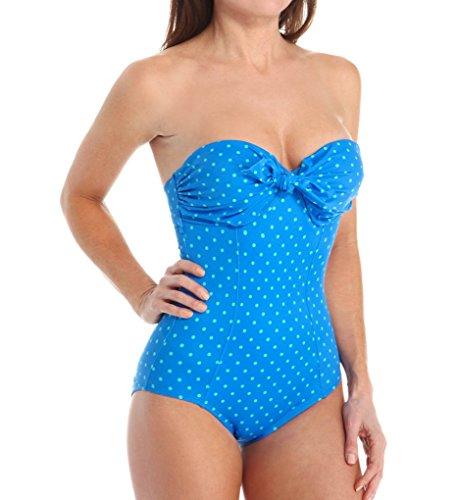 Spanx Badeanzug für Damen 14 Electric Blue Polka