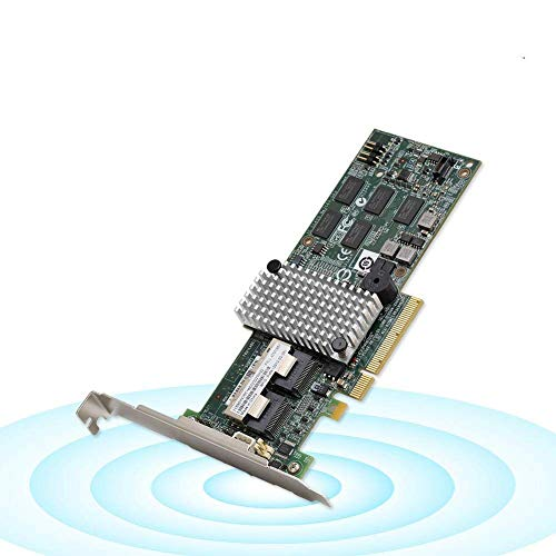 Tonysa SATA/SAS PCI-E X8 Matrixkarte mit 6 Gbit/s Interne SAS/SATA-Port-Controller-RAID-Karte 6 Gbit/s für LSI 9260-8i / IBM M5015 46M0851