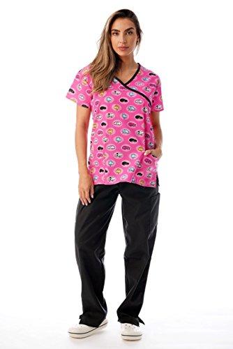 Just Love Nursing Scrubs Set for Women Print Scrubs 1311W-34-M