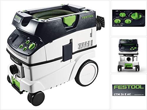 Festool Absaugmobil CTM 26 E AC CLEANTEC Herstellernr. 574978, 1200 W, Schwarz/Grün