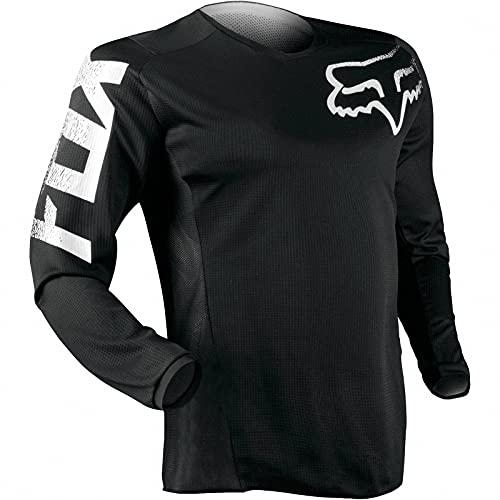 AGLT Maillot de Ciclismo Hombres, Ropa de Descenso Manga Corta/Larga MTB Jersey Moto Cross Enduro Downhill Jersey,Black,M