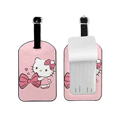 Hello Kitty de alto grado de cuero de la PU de la personalidad profesional DIY impresión diseño maleta privacidad etiqueta de equipaje moda