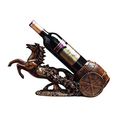 RENSLAT Los carros de Gama Alta creativos Ponen bastidores de Vino, bastidores de vinos, gabinetes de Vino de Estilo Europeo, Decoraciones para el hogar