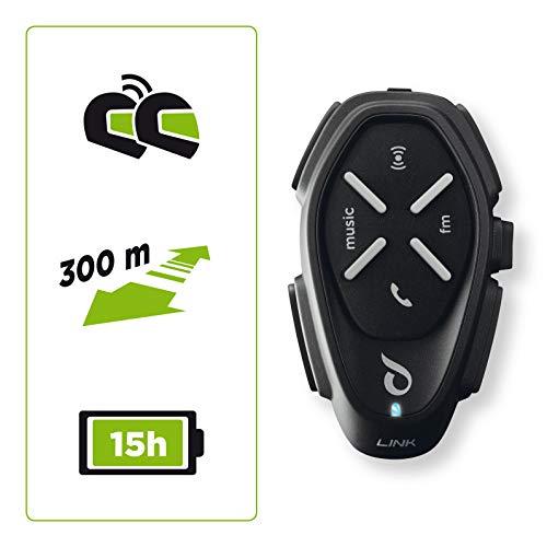 cellularline INTERPHOLINK Interfono da Moto Bluetooth, Nero, 1