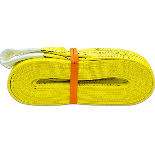 Autodomy Eslinga 4x4 Profesional - Cuerda Remolque - Resistencia 21.000 Kg Rotura - Accesorio de Emergencia para Rescate Vehículos - Made in EU (10 Metros)