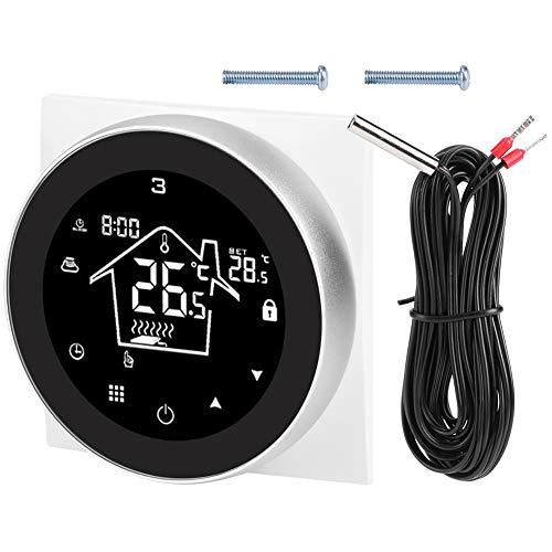 Hebrew Termostato de calefacción por Suelo Radiante, termostato eléctrico Inteligente, Sistemas de calefacción eléctrica de fontanería de Uso doméstico de fácil instalación para calefacción por