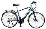 smartEC TrekX-MH Trekking E-Bike 28 Zoll mit Samsung Li-Ion-Akku 36v, 250 Watt, Mittelmotor, Rahmen-Akku, Fahrunterstützung 25 km/h, 7 Gänge, Reichweite 100 km