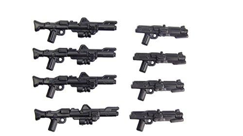 8 armi per Clone Trooper personalizzato plastica di alta qualità brickarms