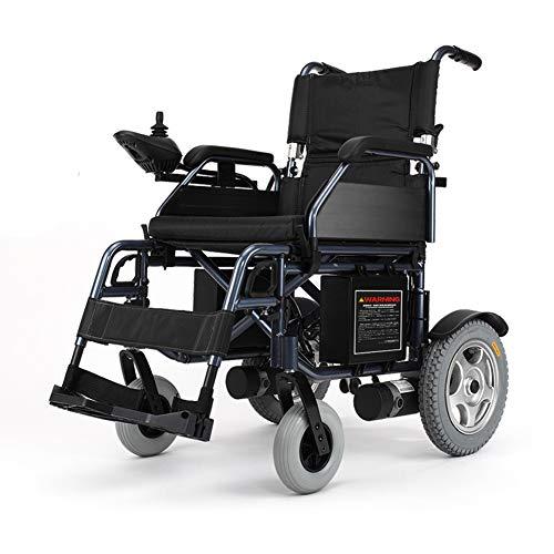 ZZUU Elektrorollstuhl Faltbar, 360 ° Joystick Lithiumbatterie Elektro Mobilitätshilfe Elektrischer Rollstuhl, Kann Fahren 20 Km,12inches