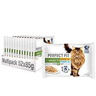 Perfect Fit 7+ Wet Cat Food - Advanced Nutrition for Senior Cats, Mixed Selection in Sauce, 52 Pouch...