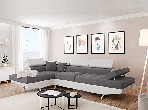 Canapé d'angle Blanc Microfibre Pas cher