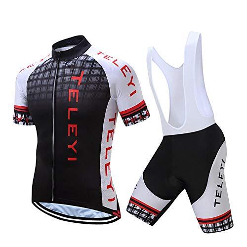 Ciclismo Conjunto Ropa Equipacion Traje Ciclismo Hombre para Verano, Maillot Ciclismo Hombre+Culotte...