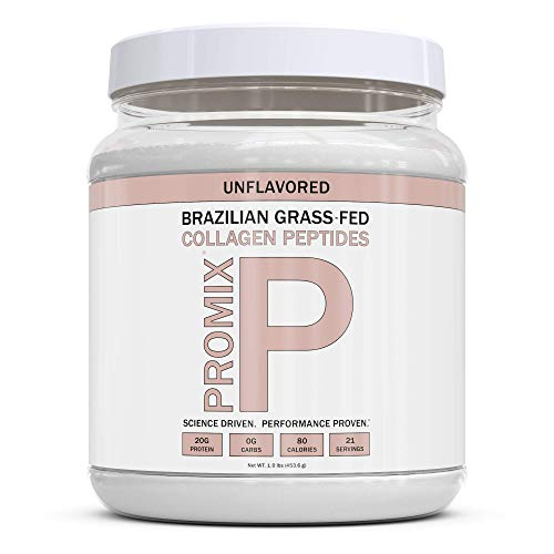 PROMIX Collagen Peptides Protein Powder, Pasture-Raised Grass Fed Hydrolysate | Unflavored, 1lb | Keto, Non GMO, Gluten Free, Natural, Organic, Hydrolyzed | For Healthy Skin, Bones, Hair and Joints