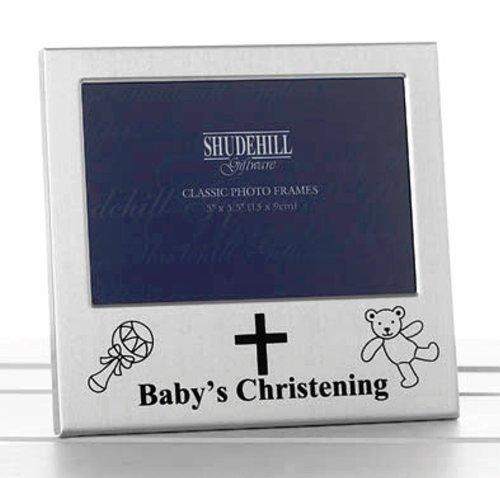 Shudehill 73488 Cadre Photo pour baptême de bébé Argenté 12,7 x 7,6 cm