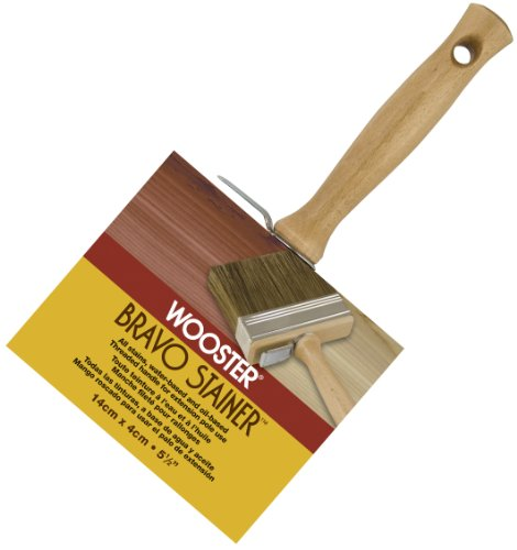 Wooster Brush F5119-5 1/2 Bravo Stainer Bristle/Polyester Stain Brush, 5-1/2 Inch