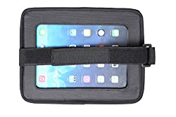 Babydan head rest mounted tablet holder Features mirror behind clear touchscreen Jack holes for charging leads and earphones Securely attaches to headrest with straps