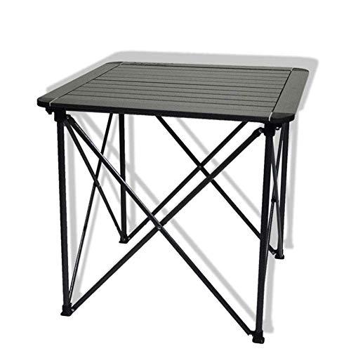 Kaikai Mesa de Aluminio de Mesa Plegable Mesa de Picnic portátil Mediana (Color : Black)