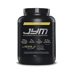 Pro Jym Protein Powder - Egg White, Milk, Whey protein isolates & Micellar Casein   JYM Supplement Science   Tahitian Vanilla Bean Flavor, 4 Lb