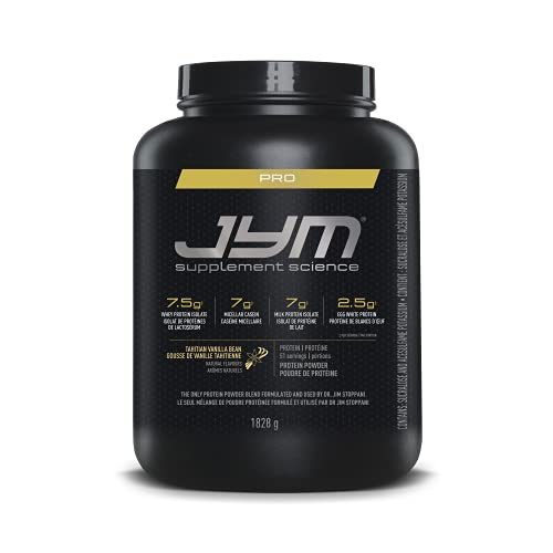 Pro Jym Protein Powder - Egg White, Milk, Whey protein isolates & Micellar Casein | JYM Supplement Science | Tahitian Vanilla Bean Flavor, 4 Lb