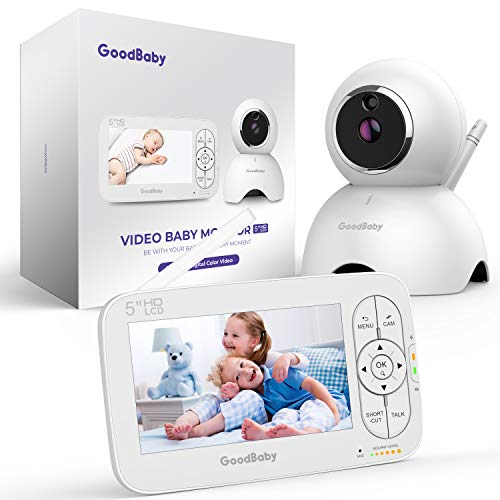 Baby Monitor, 5 inch 720P HD Display Video Baby Monitor with Camera and Audio, Remote Pan&Tilt&Zoom, Two-Way Talk,Temperature Monitor, Night Vision, Lullaby Player, 960ft Long Range