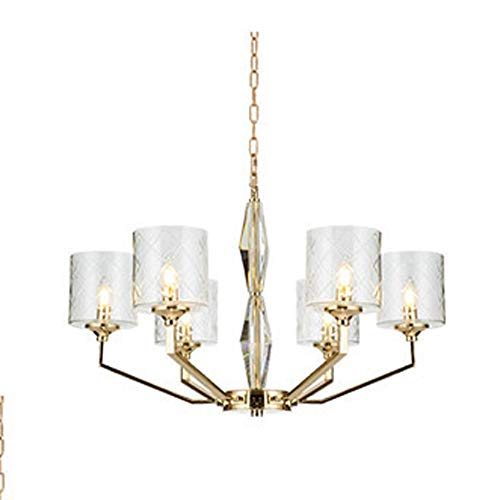 H.Y.FFYH Pendelleuchte Minimalist Europäische Kristallglas Dekoration Wohnzimmer Schlafzimmer Restaurant Personality Kreative Nordic-Lampe