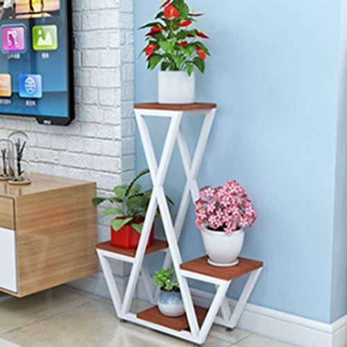 Mode nach Hause ZHILIAN® Einfaches Holz Pergolen Und Kreativer Nordic Familie Wohnzimmer Stock Balkon Blume Multifunktionslagerregal (Farbe : B)
