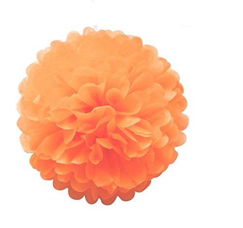Mr. Gadget Solution 10 pompones de papel de seda para bodas, Navidad y decoraciones de fiesta, 20 cm, color naranja quemado