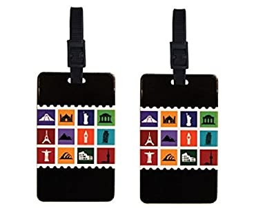 ORB Travel 2-pack Luggage Name Tags Business Card Holder Id Set of 2 Tags, Suitcase Label