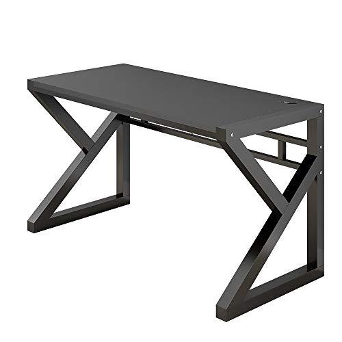 KTDZ Computertisch, Heim-Desktop-PC-Computerarbeitsplatz Schreibtisch FüR Schreibtisch Im Schlafzimmer Mit Metallrahmen-Spieltisch Verwendet FüR Das Wohnzimmer des Familienschlafzimmers