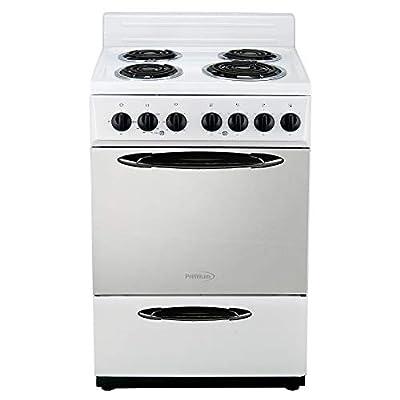 Premium 4 Elements Free Standing Electric Range 24'' 2.9 Cu Ft, White
