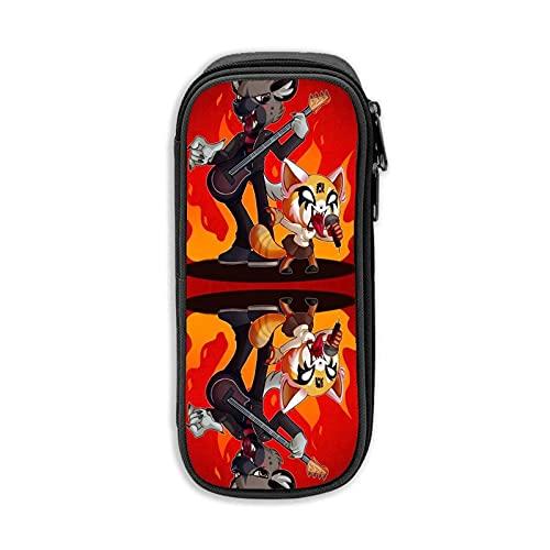 Estuche portátil elegante de metal Duo simple con cremallera para rotuladores, caja...
