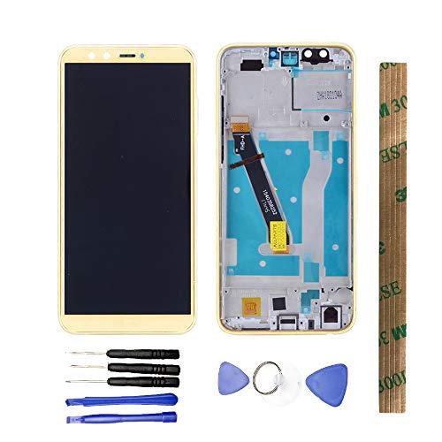 JayTong - Pantalla LCD y digitalizador de Pantalla táctil de Repuesto con Herramientas gratuitas para Huawei Honor 9 Lite LLD-L31 LLD-L22A/Honor 9 Youth Edition LLD-AL10 con Marco Dorado