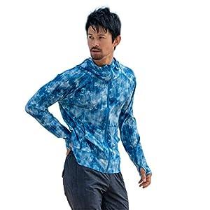 RINNE(リンネ) ラッシュガード パーカー メンズ フード付き UPF50 紫外線対策 UVカット 日焼け止め (フォールブルー, XL)