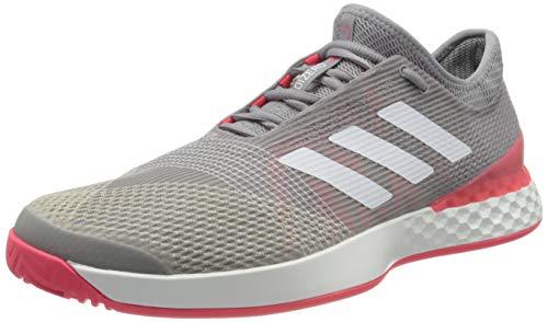 adidas Herren Adizero Ubersonic 3 M Tennisschuhe, Gris Clair Blanc Rouge Flash, 48 EU